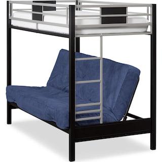 Samba Youth Twin/Full Futon Bunk Bed with Blue Futon Mattress