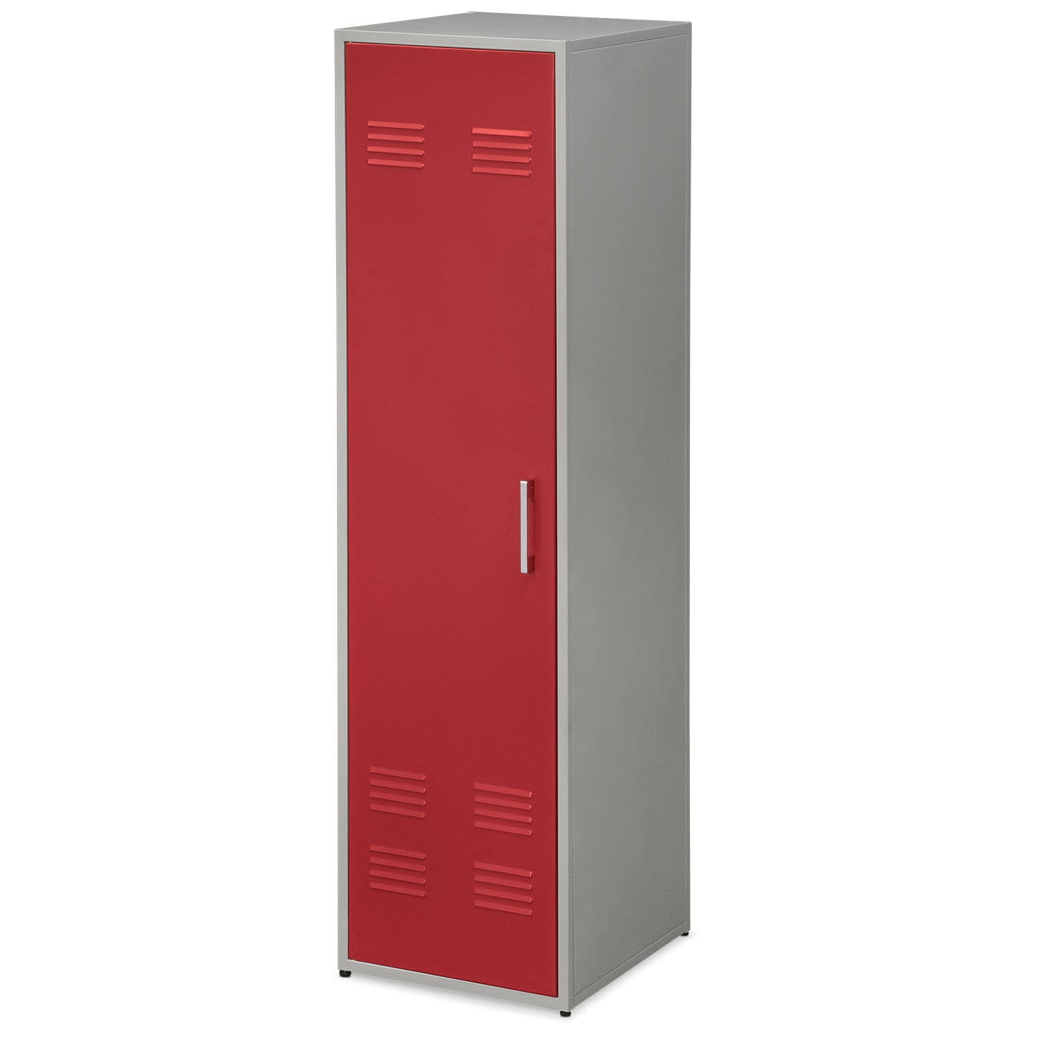 "Bedroom Furniture - Samba Youth 66"" Locker - Red"