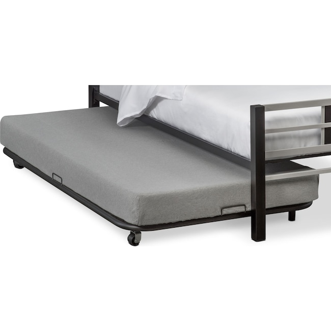 Bedroom Furniture - Samba Youth Trundle Bed - Matte Black