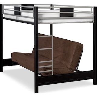 Samba Full Futon Bunk Bed with Chocolate Futon Mattress
