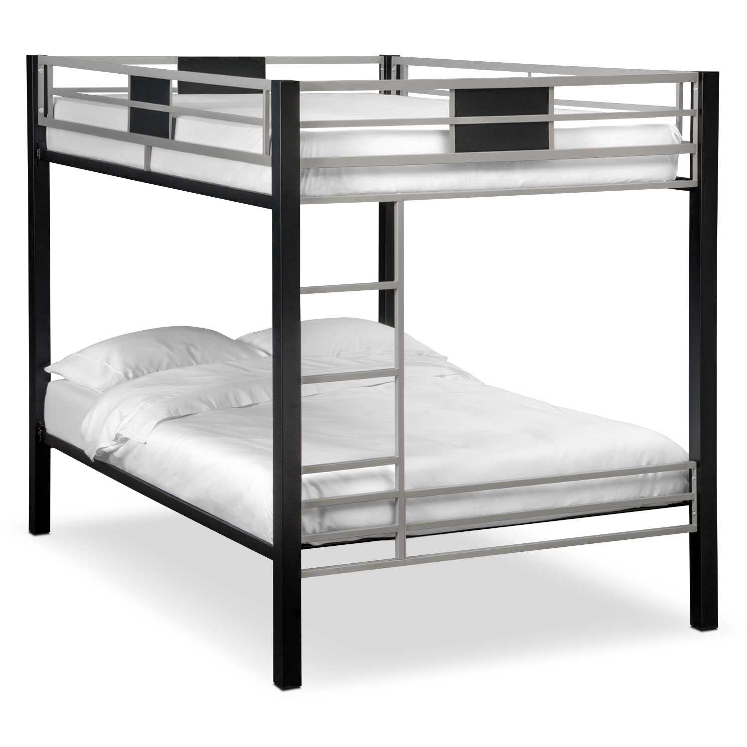 Samba Youth Full/Full Bunkbed - Matte Black