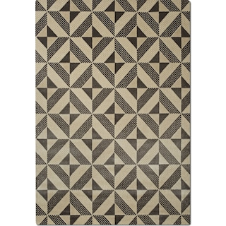 Metro Area Rug - Charcoal and Ivory