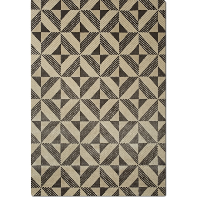 Rugs - Metro 5' x 8' Area Rug - Charcoal and Ivory