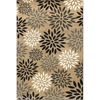 Casa 5' x 8' Area Rug - Tan and Black