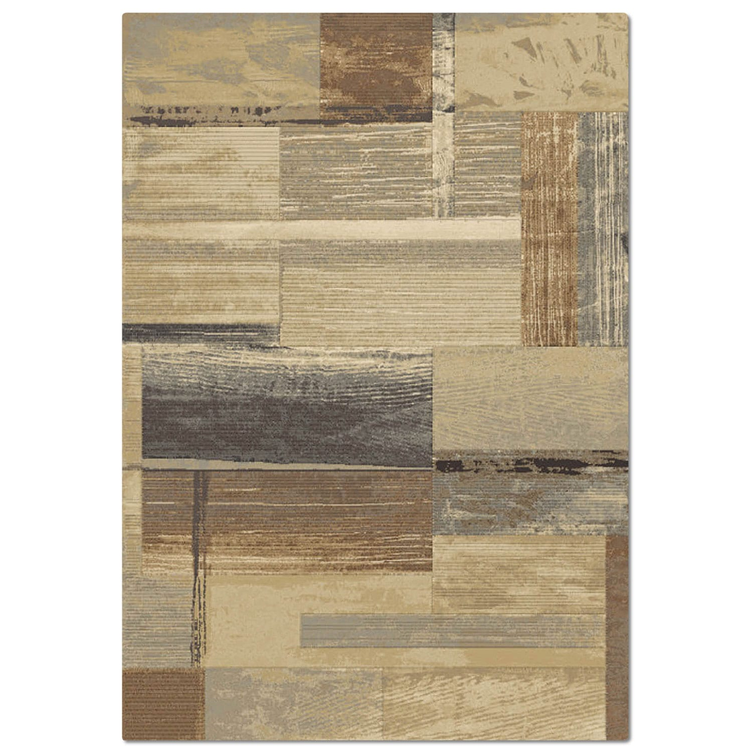 Essentials 5' x 8' Area Rug - Blue and Tan