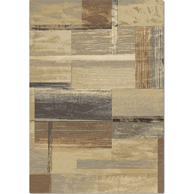 Rugs - Essentials 8' x 10' Area Rug - Blue and Tan