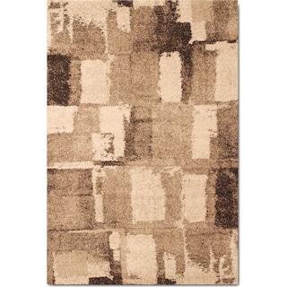 Granada 5' x 8' Area Rug - Chocolate and Tan