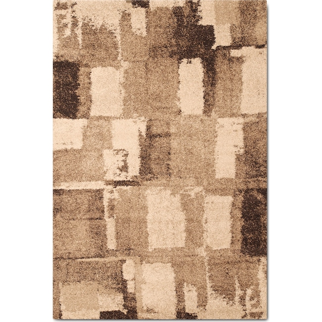 Rugs - Granada 5' x 8' Area Rug - Chocolate and Tan