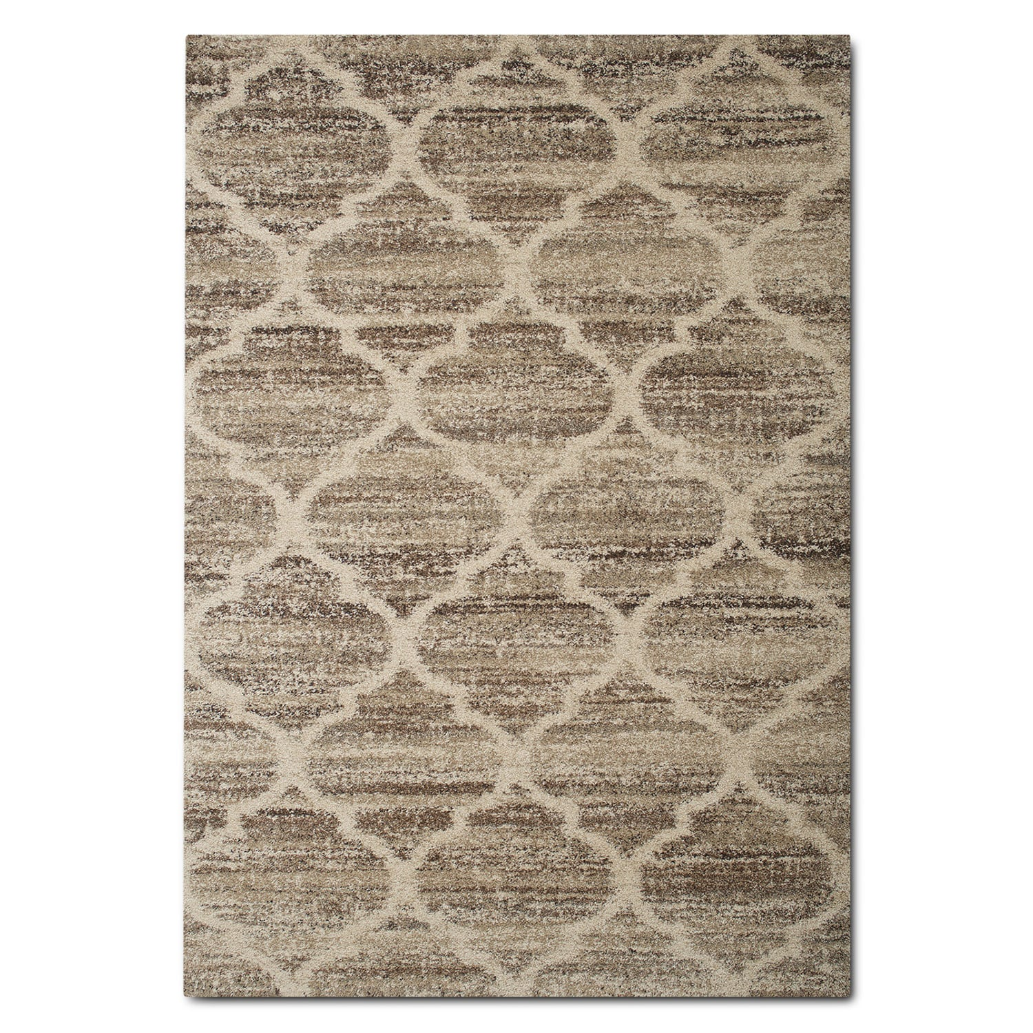 Rugs - Granada 8' x 10' Area Rug - Tan and Brown