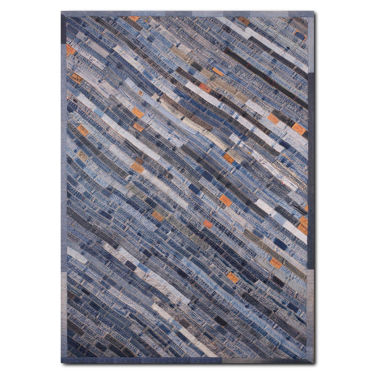 Lifestyle 5' x 8' Area Rug - Blue Denim