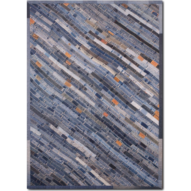 Rugs - Lifestyle 8' x 10' Area Rug - Denim Blue