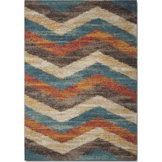 Granada 8' x 10' Area Rug - Blue and Rust