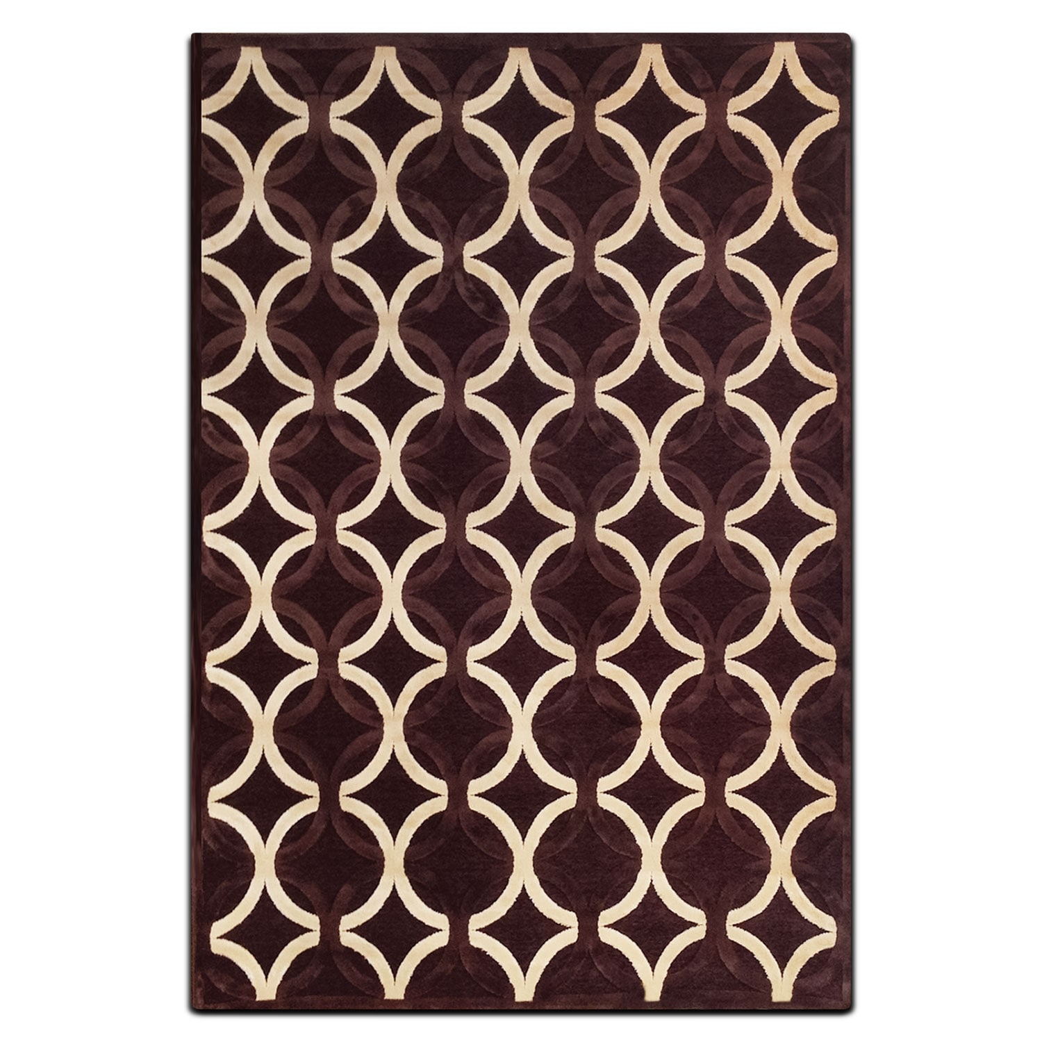 Rugs - Napa 5' x 8' Area Rug - Chocolate and Ivory