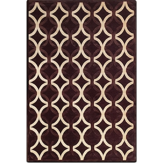Napa 5' x 8' Area Rug - Chocolate and Ivory