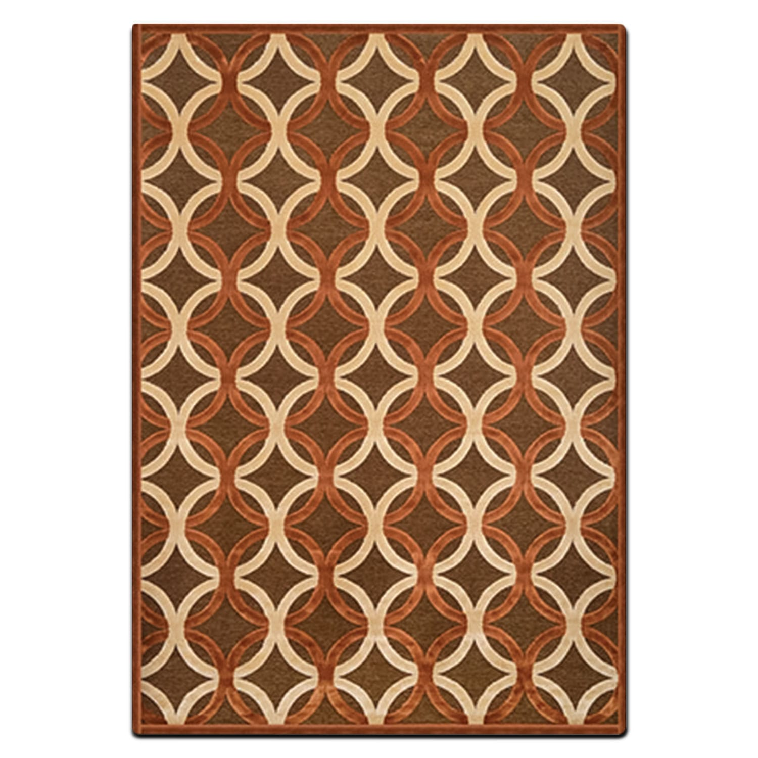 Napa 8' X 10' Area Rug - Rust And Ivory