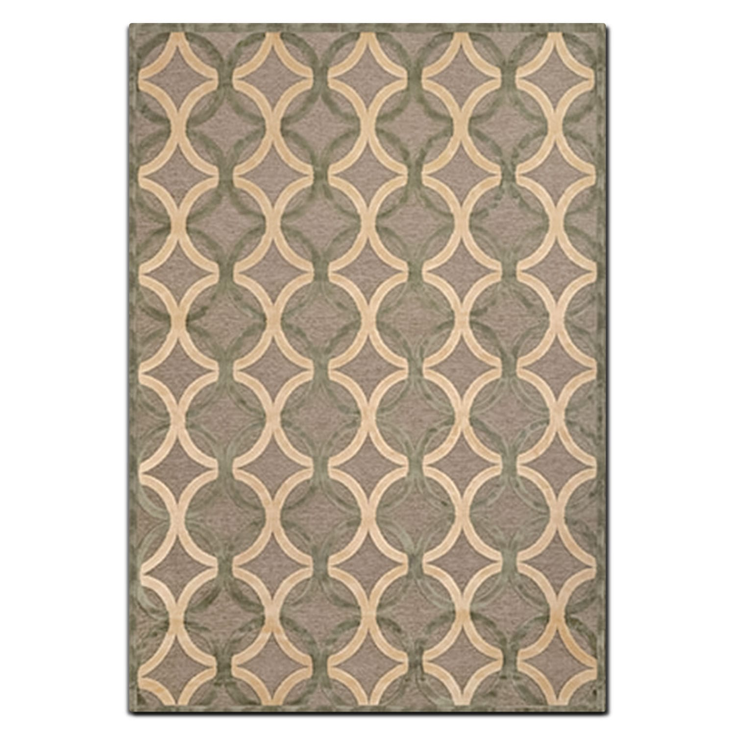 Napa 8' x 10' Area Rug - Ivory and Seafoam
