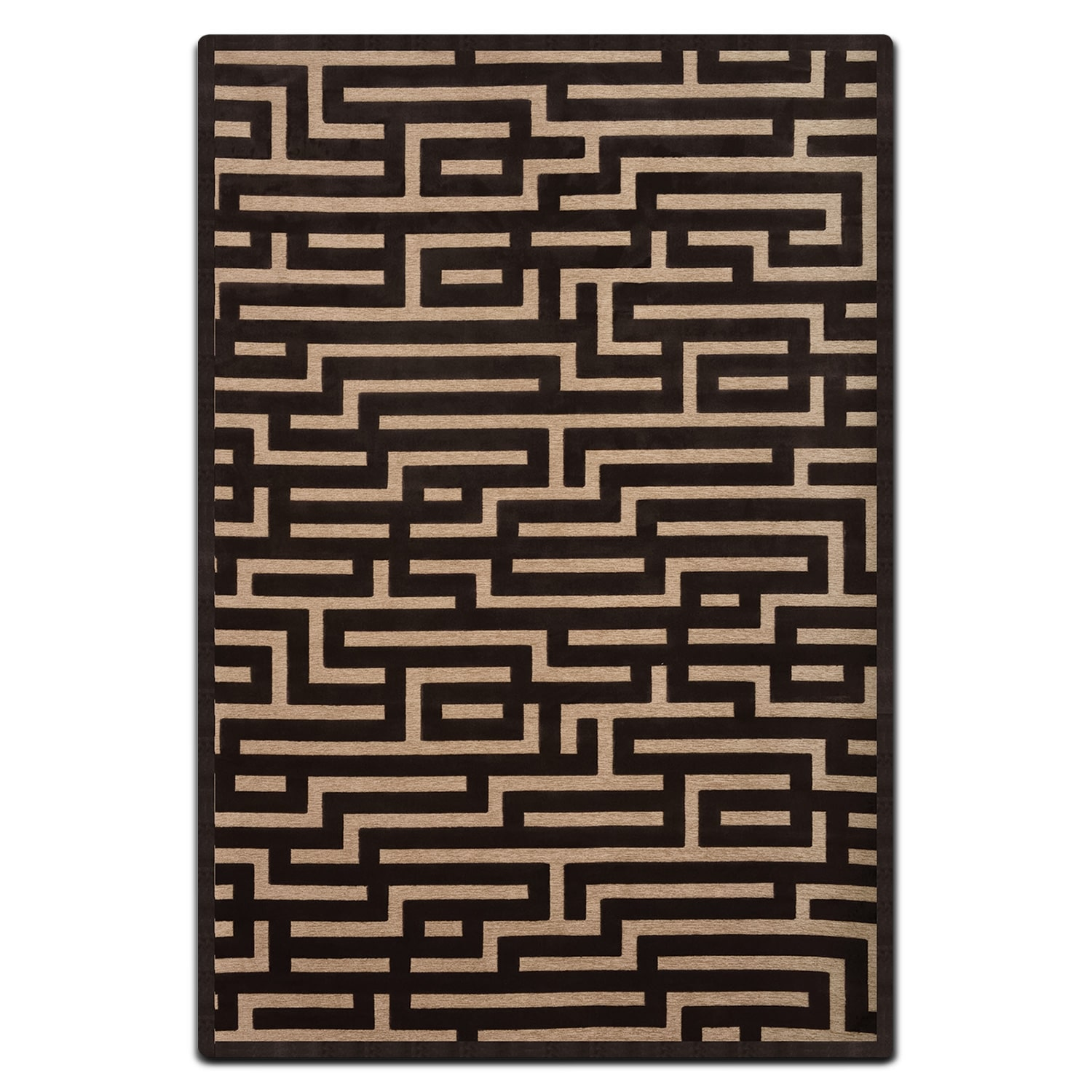 Rugs - Napa 5' x 8' Area Rug - Charcoal and Beige