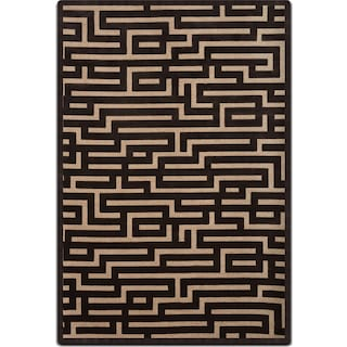 Napa 5' x 8' Area Rug - Charcoal and Beige
