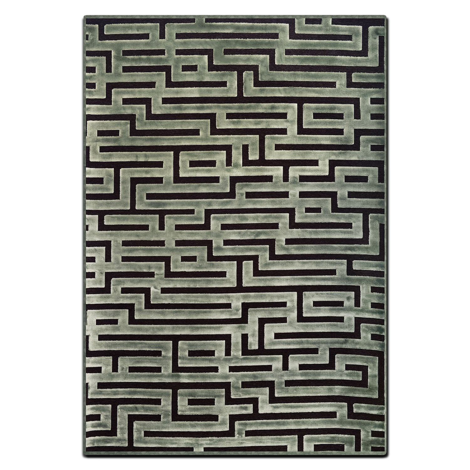 Rugs - Napa 8' x 10' Area Rug - Seafoam and Charcoal