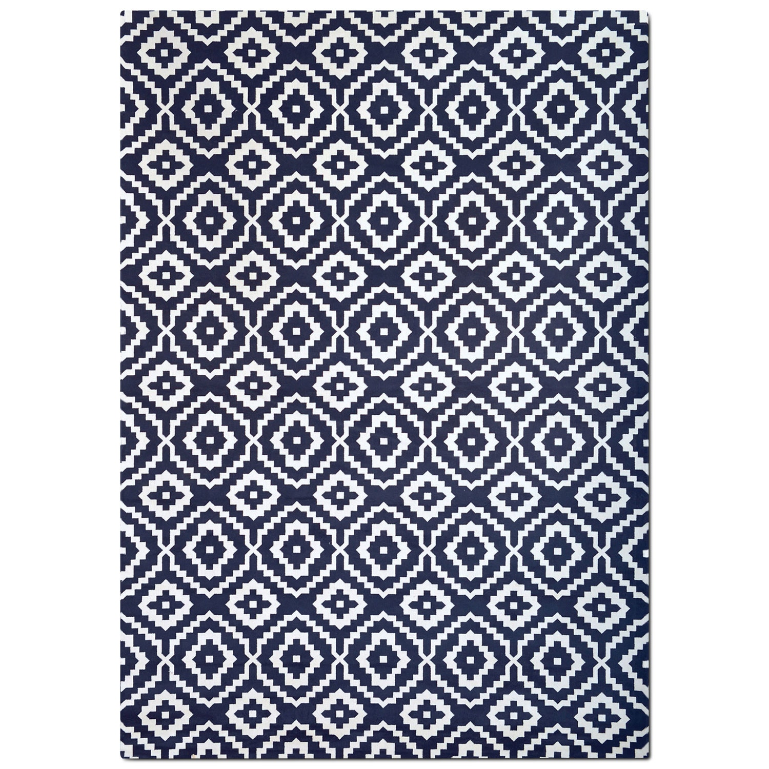Rugs - Sonoma 8' x 10' Area Rug - Navy and White