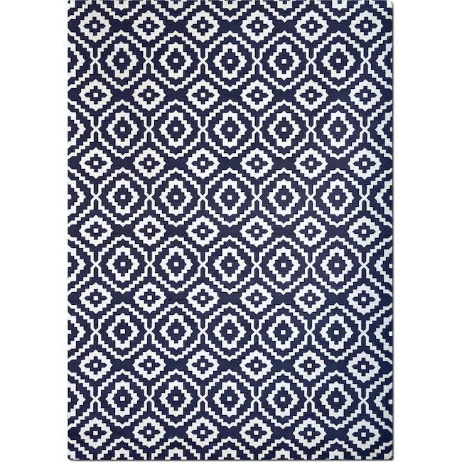 Rugs - Sonoma 5' x 8' Area Rug - Navy and White