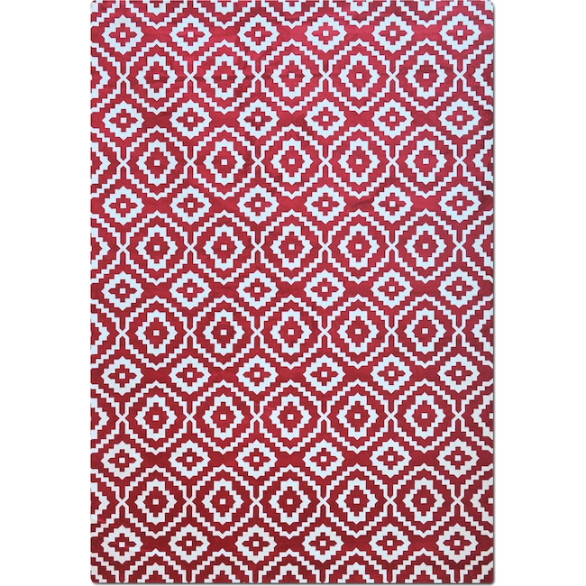 Rugs - Sonoma 8' x 10' Area Rug - Red and White