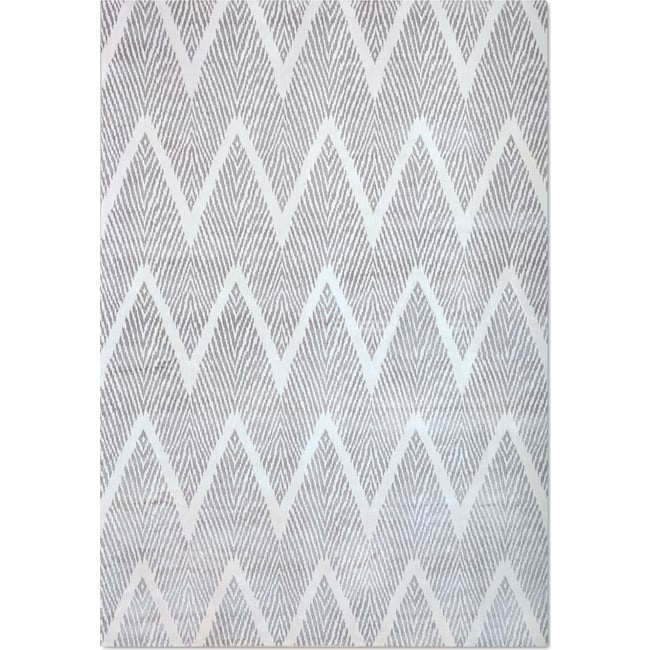 Rugs - Sonoma 5' x 8' Area Rug - Silver and White