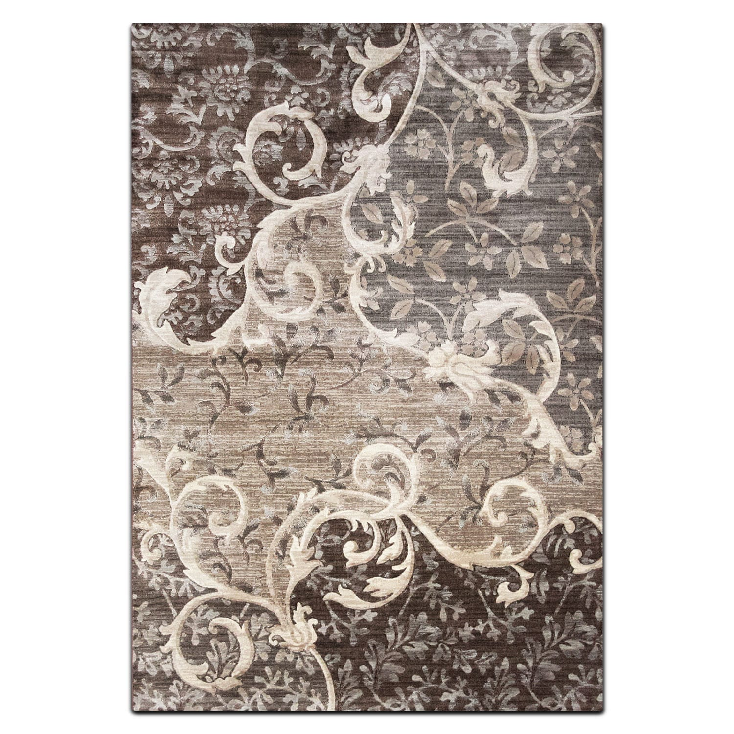 Rugs - Sonoma 8' x 10' Area Rug - Chocolate and Gray
