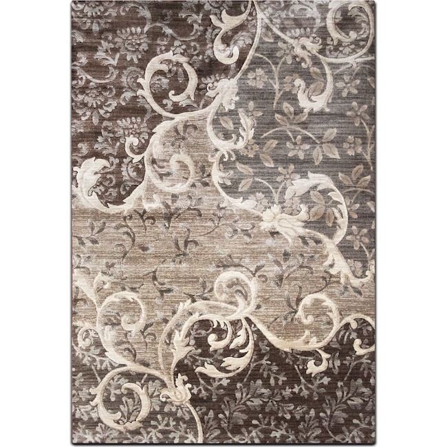 Rugs - Sonoma 5' x 8' Area Rug - Chocolate and Gray