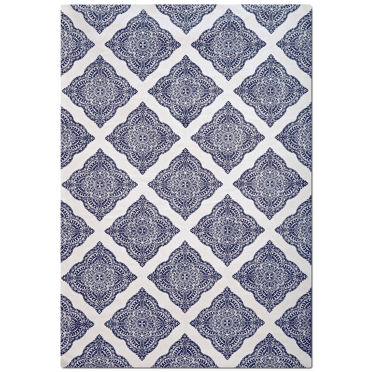 Rugs - Sonoma 5' x 8' Area Rug - Navy and White Country