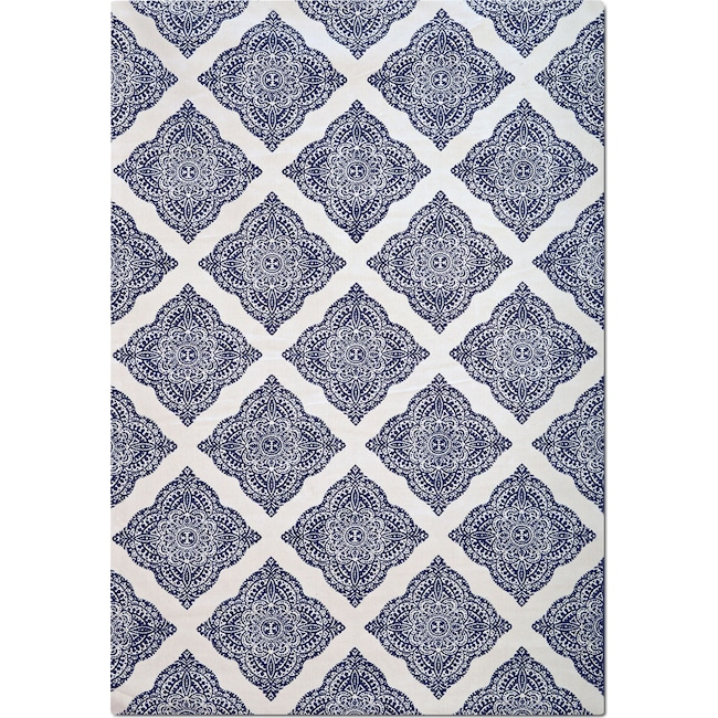 Rugs - Sonoma 8' x 10' Area Rug - Navy and White Country