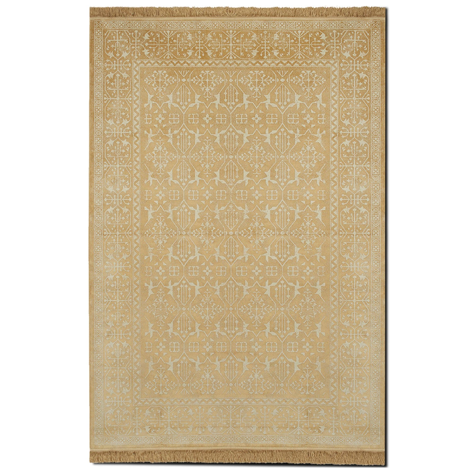 Sonoma 5' x 8' Area Rug - Yellow and White