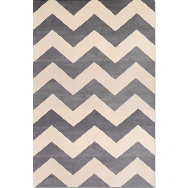 Rugs - Sonoma 5' x 8' Area Rug - Light Blue and Ivory