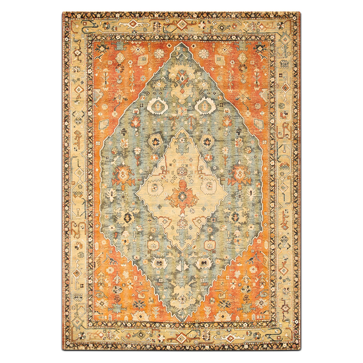 Sonoma 8' x 10' Area Rug - Aqua and Celadon