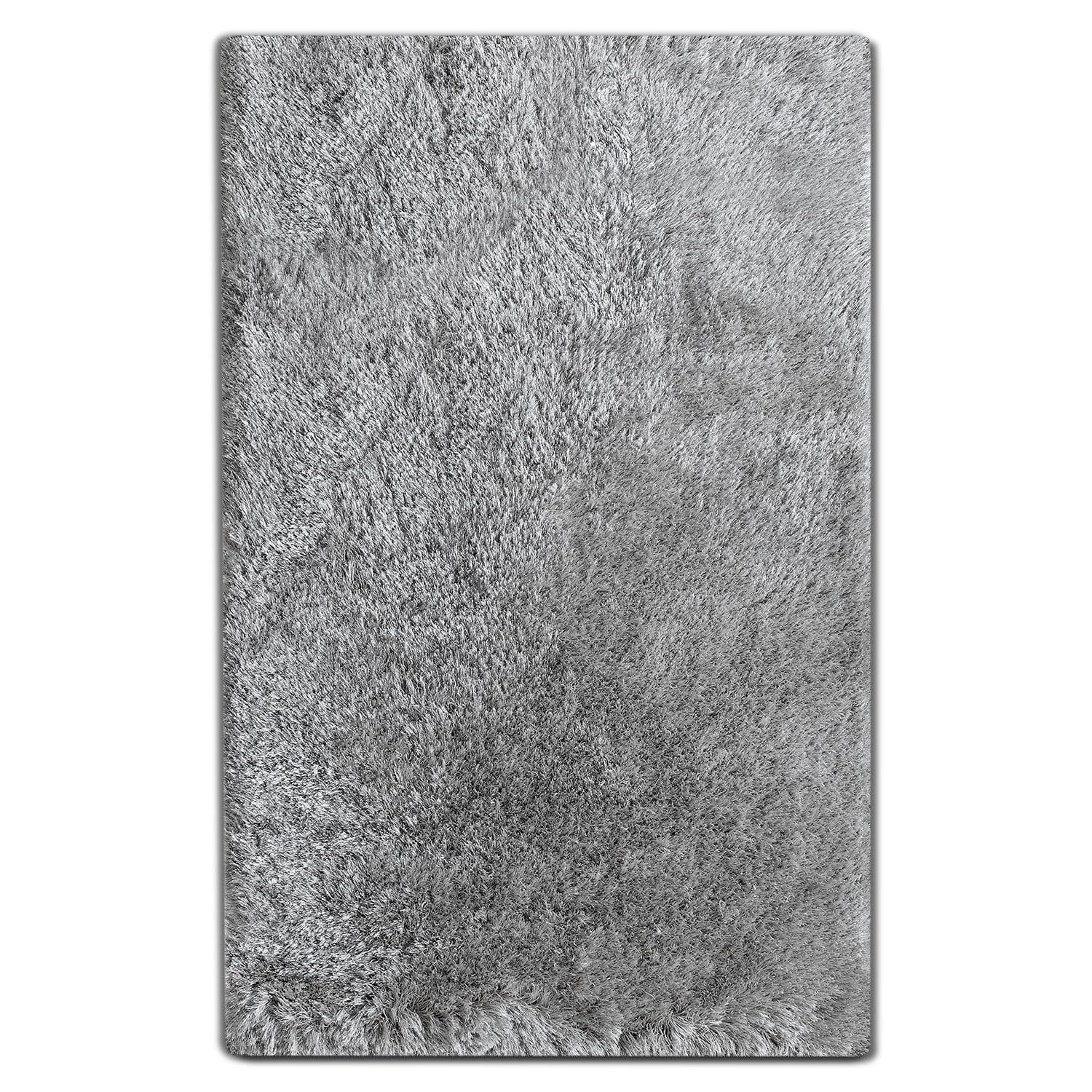 Luxe 5' x 8' Area Rug - Silver