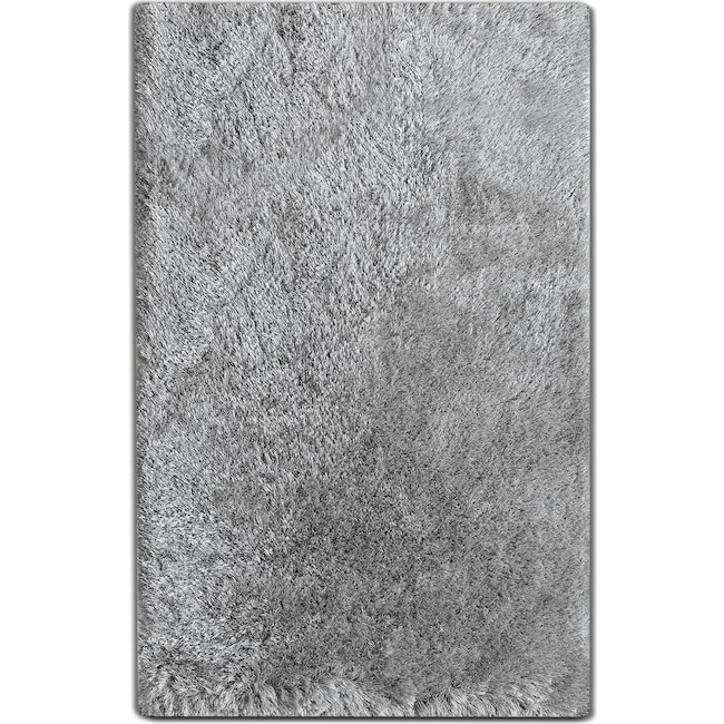 Rugs - Luxe 8' x 10' Area Rug -  Silver