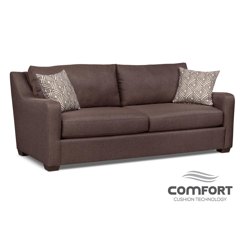 Living Room Furniture - Jules Comfort Sofa - Brown