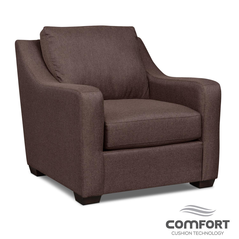 Living Room Furniture - Jules Comfort Chair - Brown