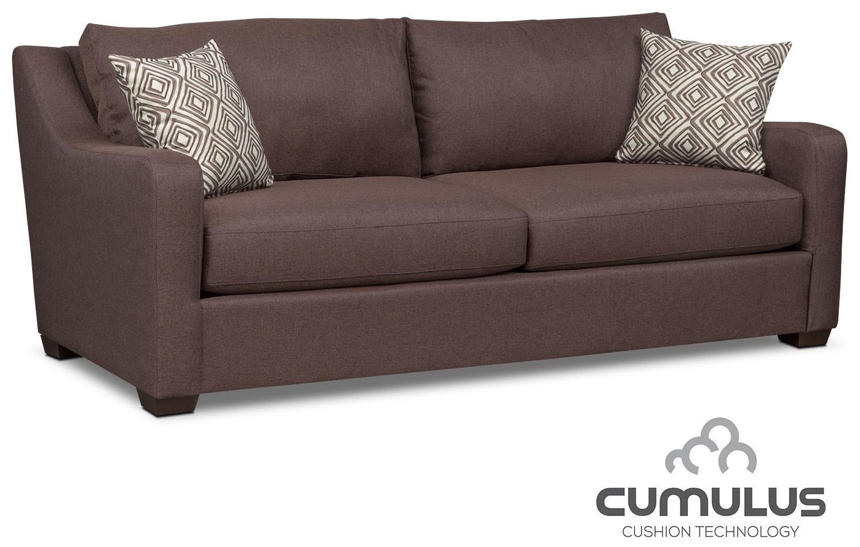 Living Room Furniture - Jules Cumulus Sofa - Brown