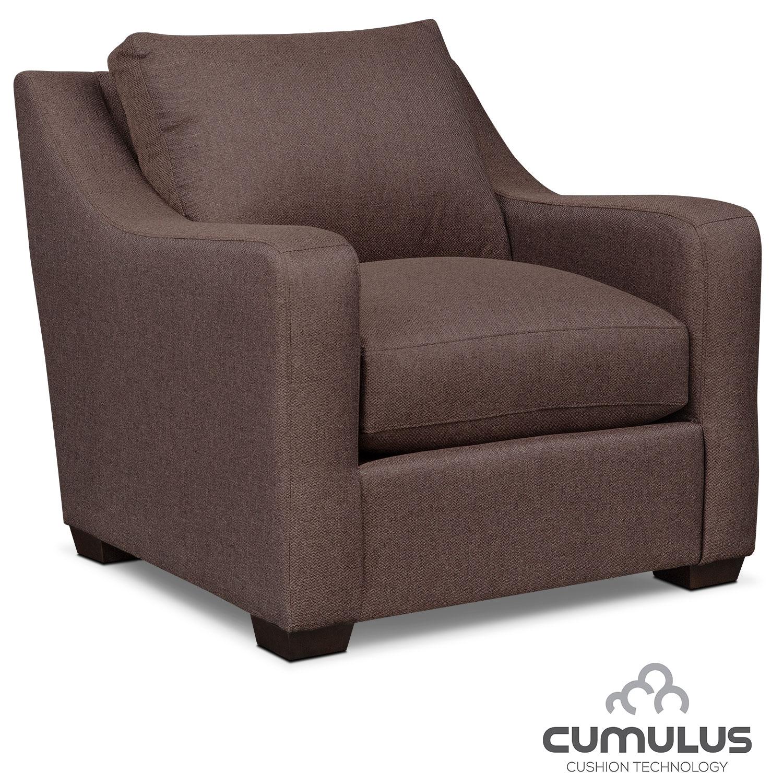 Living Room Furniture - Jules Cumulus Chair - Brown