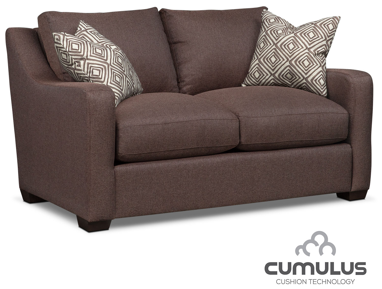 Living Room Furniture - Jules Cumulus Loveseat - Brown