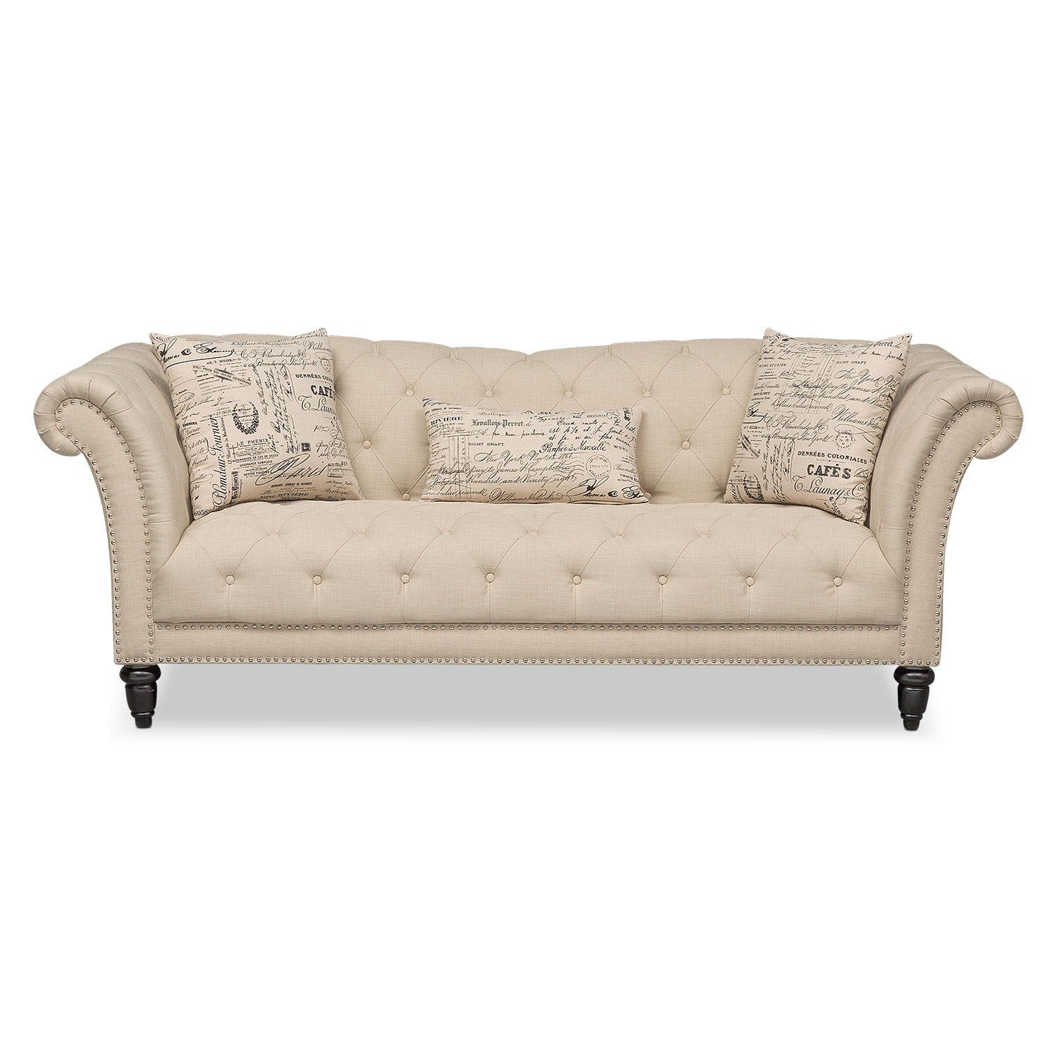 Marisol Sofa Beige Value City Furniture And Mattresses