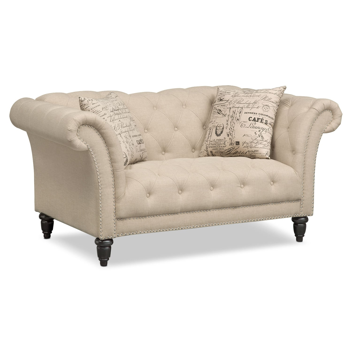 Living Room Furniture - Marisol Loveseat - Beige