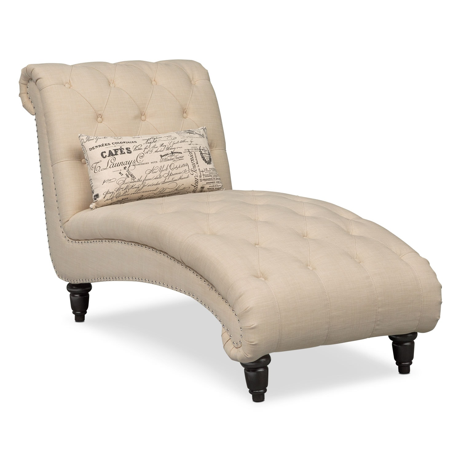 chaise living room furniture marisol chaise beige value city furniture and mattresses 15404
