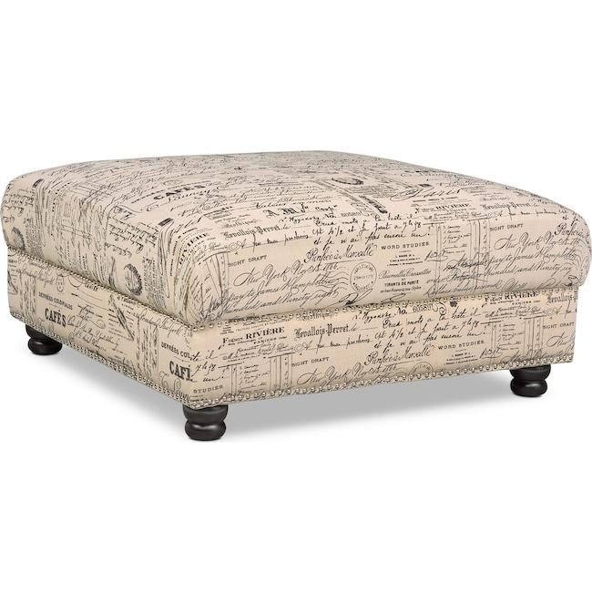 Living Room Furniture - Marisol Ottoman - Script