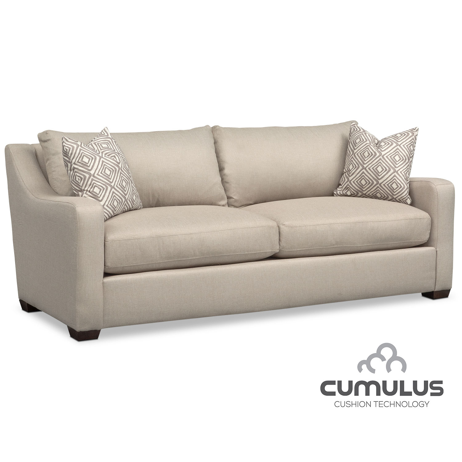Living Room Furniture - Jules Cumulus Sofa - Cream