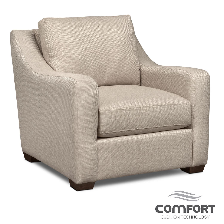 Living Room Furniture - Jules Comfort Chair - Cream