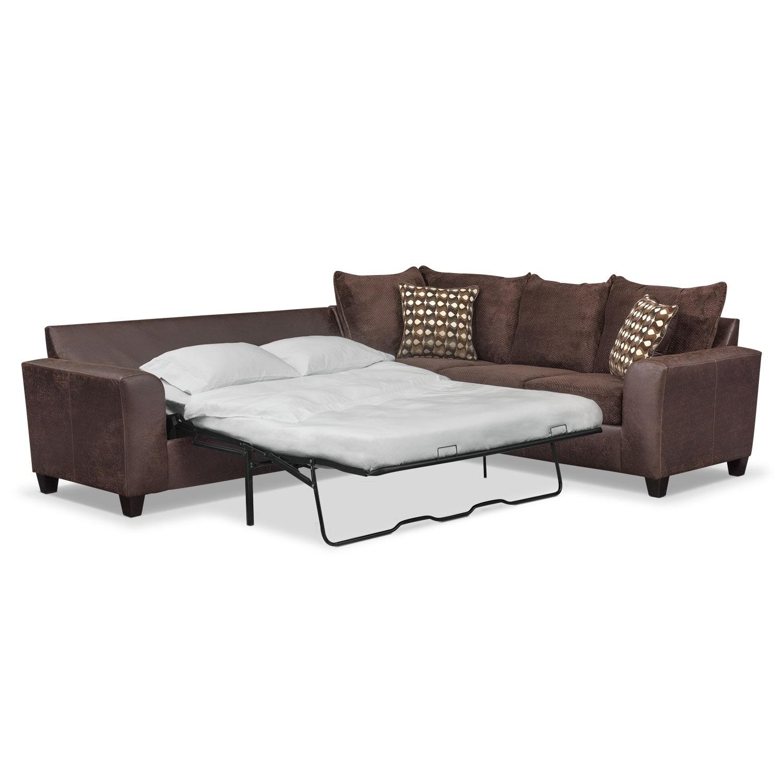 City Furniture Clearance Center: Brando 2-Piece Memory Foam Sleeper Sectional