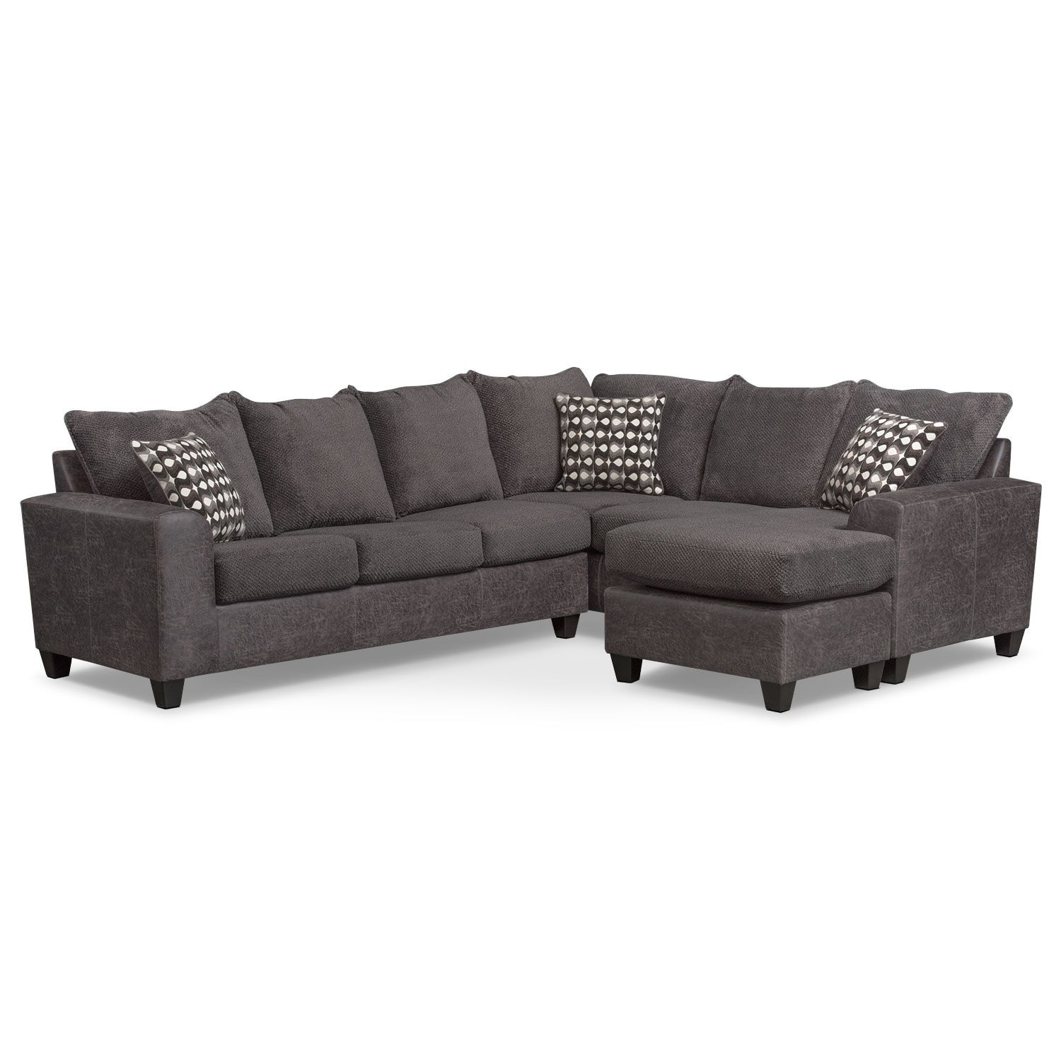 Living Room Furniture - Brando 3-Piece Sleeper Sectional