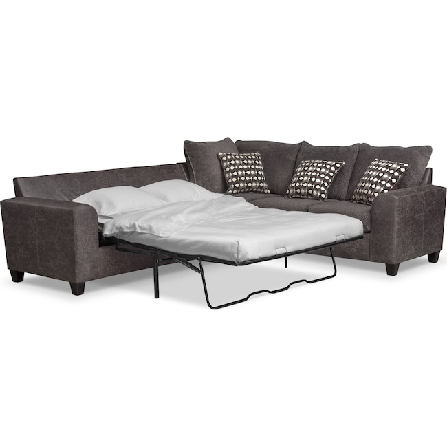 Brando 3-Piece Sleeper Sectional | Value City Furniture and Mattresses